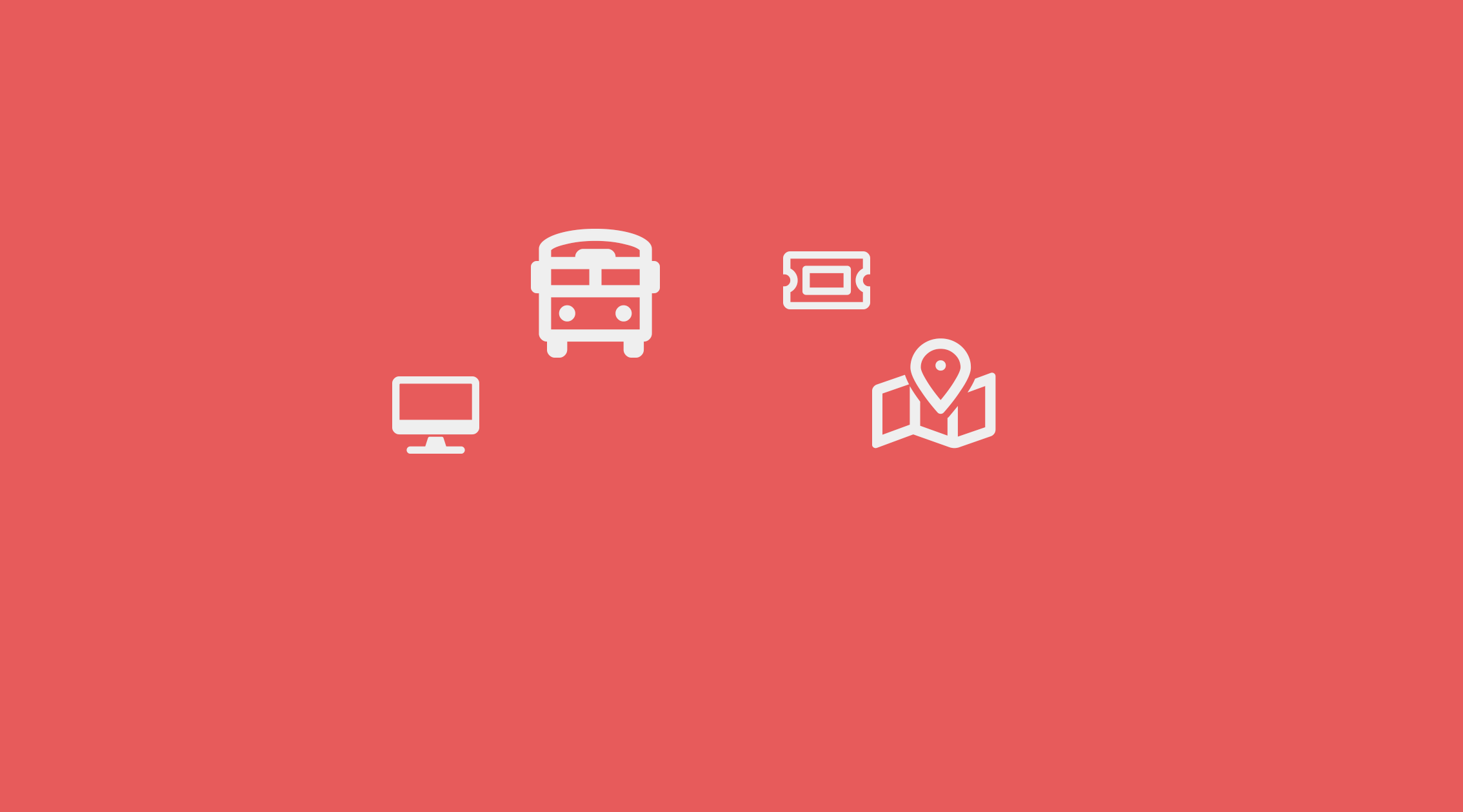 symbols showing public services on a pink background
