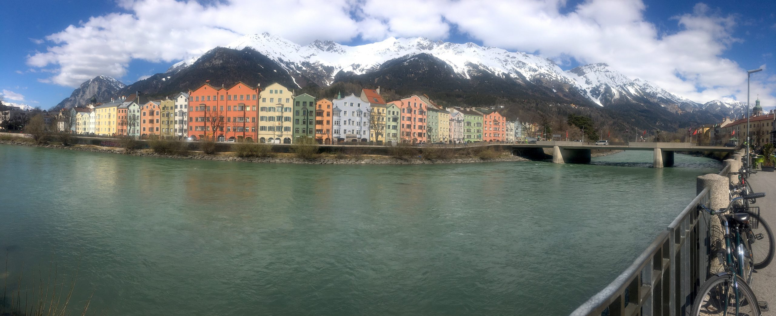 photo of innsbruck in austria with the alps in the background