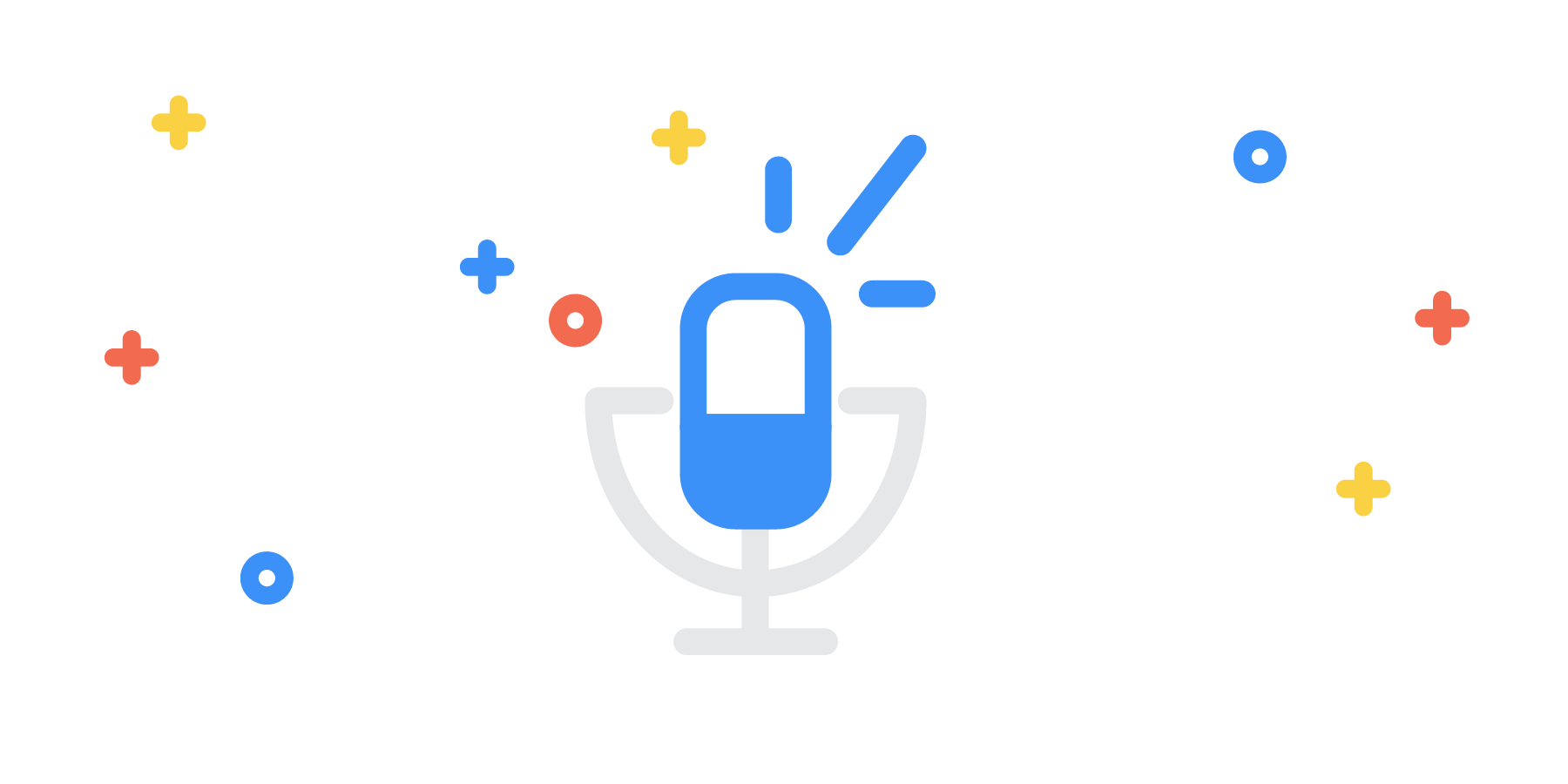 Podcast microphone with sprinkles