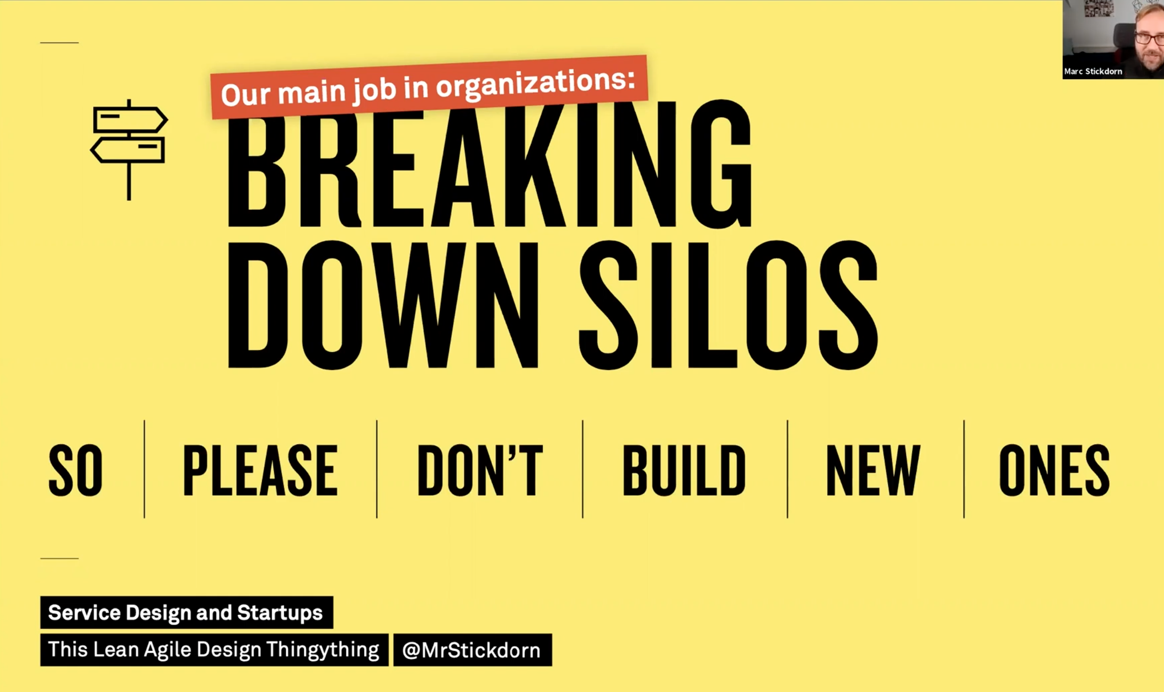 a service designer's main job in an organization is to break down silos
