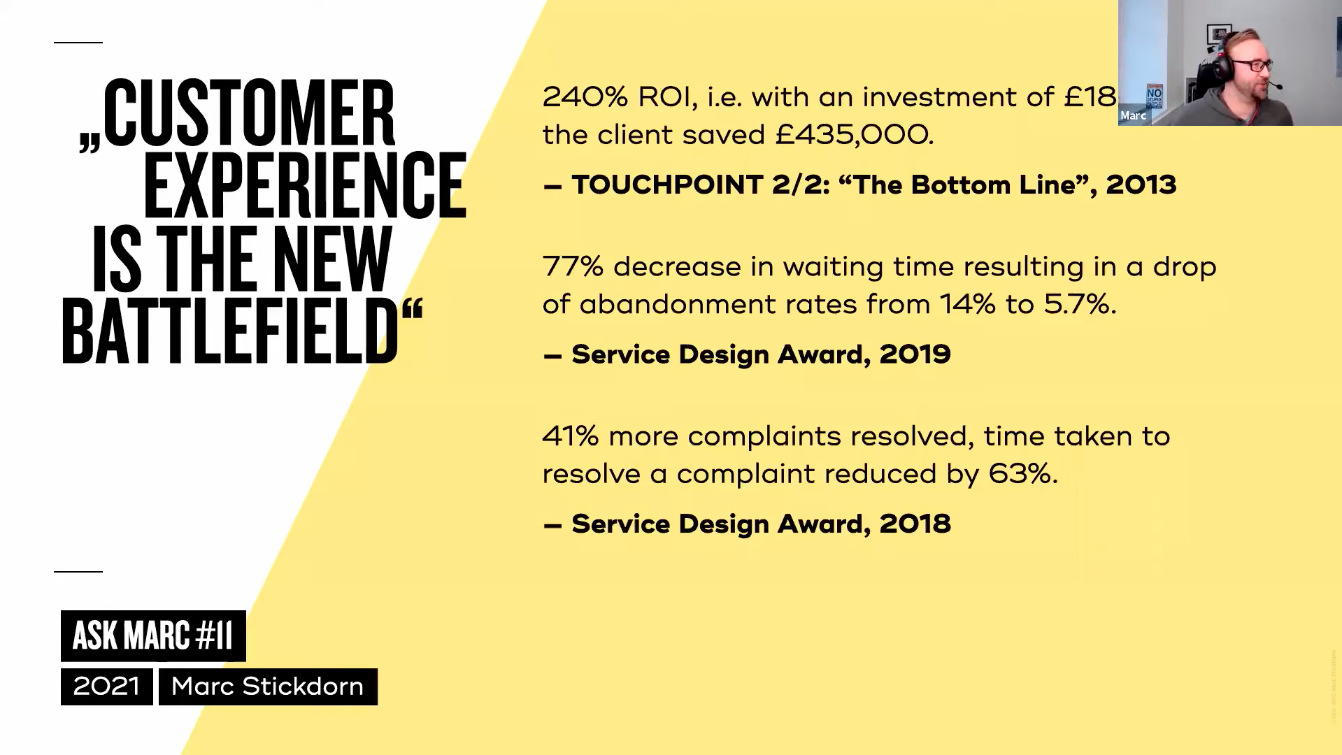 examples how service design can impact ROI