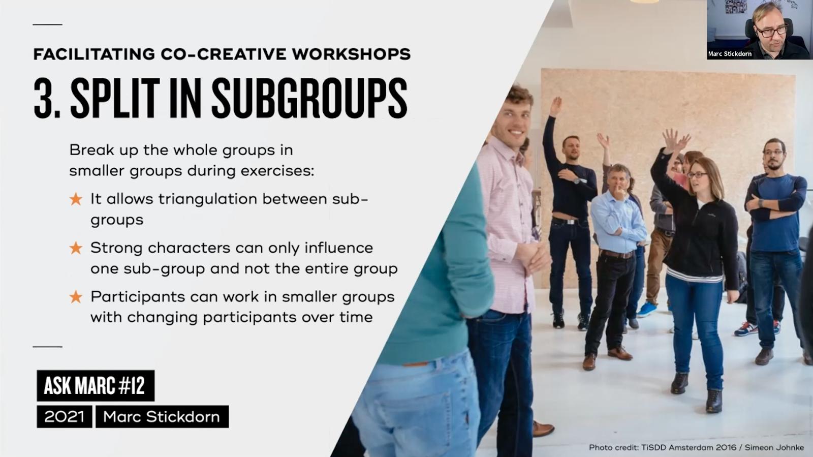 Tip 3: split in subgroups