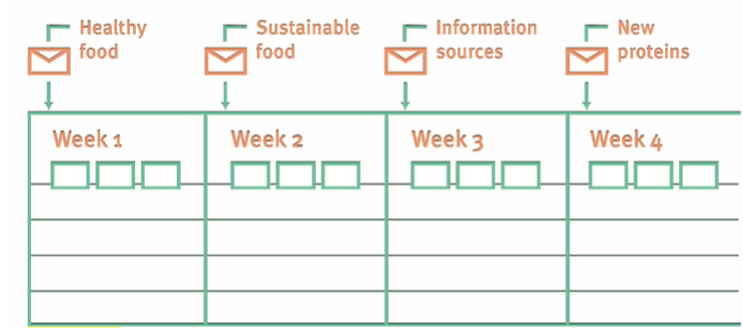 Visualization of the weekly tasks for participants