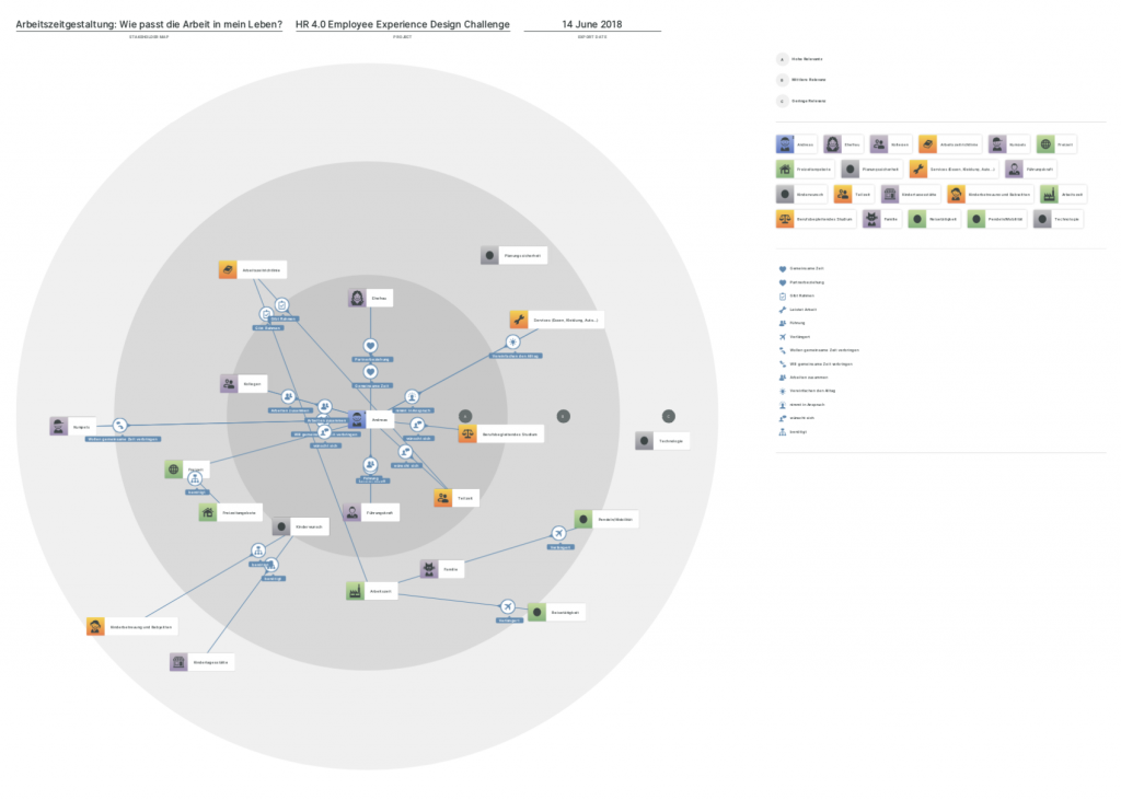 System map created in Smaply, visualizing the working time agreement