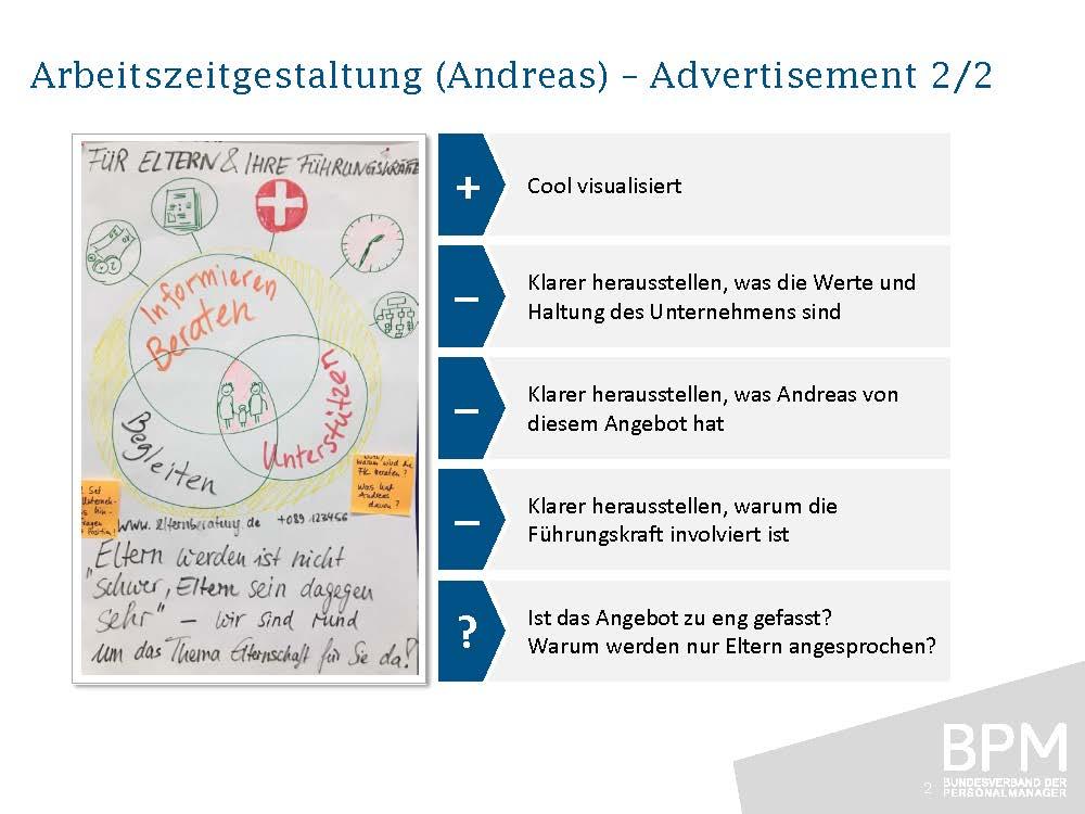 Advertisement 2 – Arbeitszeitgestaltung