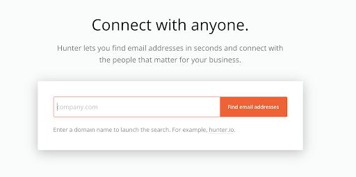 Hunter content marketing tools.