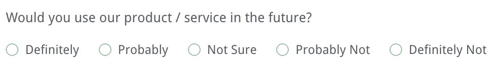 online survey question example