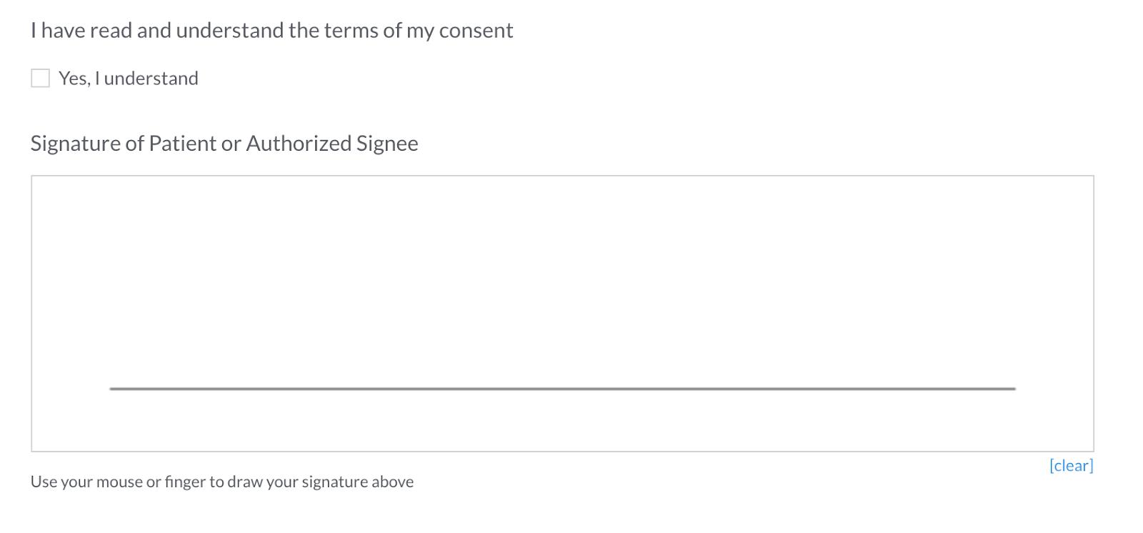 online form builder signature
