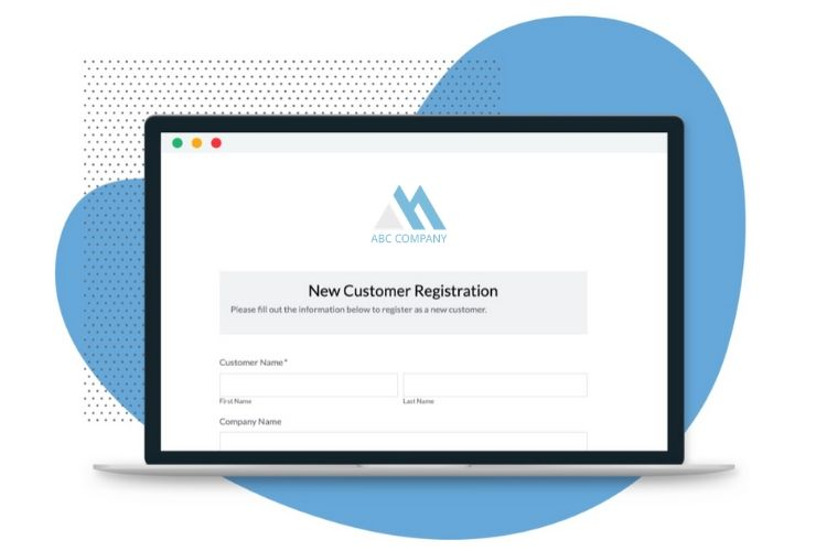 new customer registration template