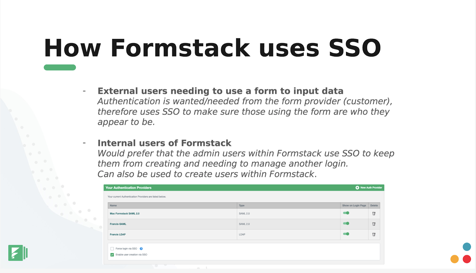 formstack forms hacks for SSO