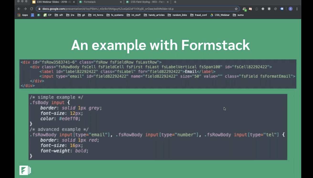 formstack forms hacks for CSS