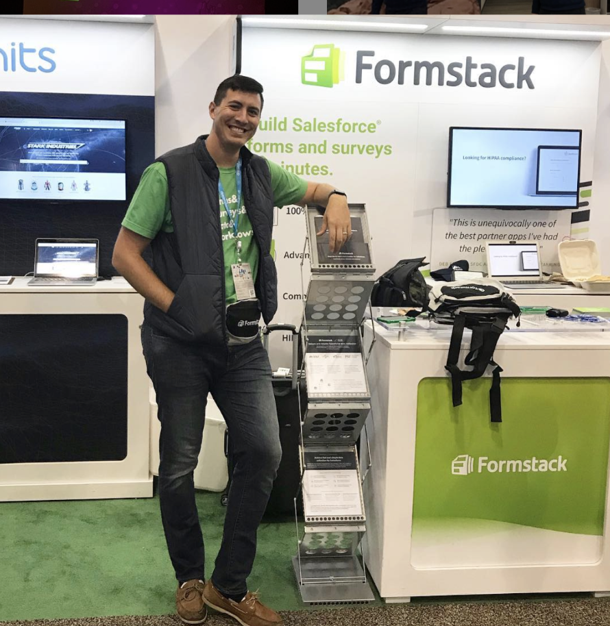 Formstack Product Marketing Manager Clint at Dreamforce 2018