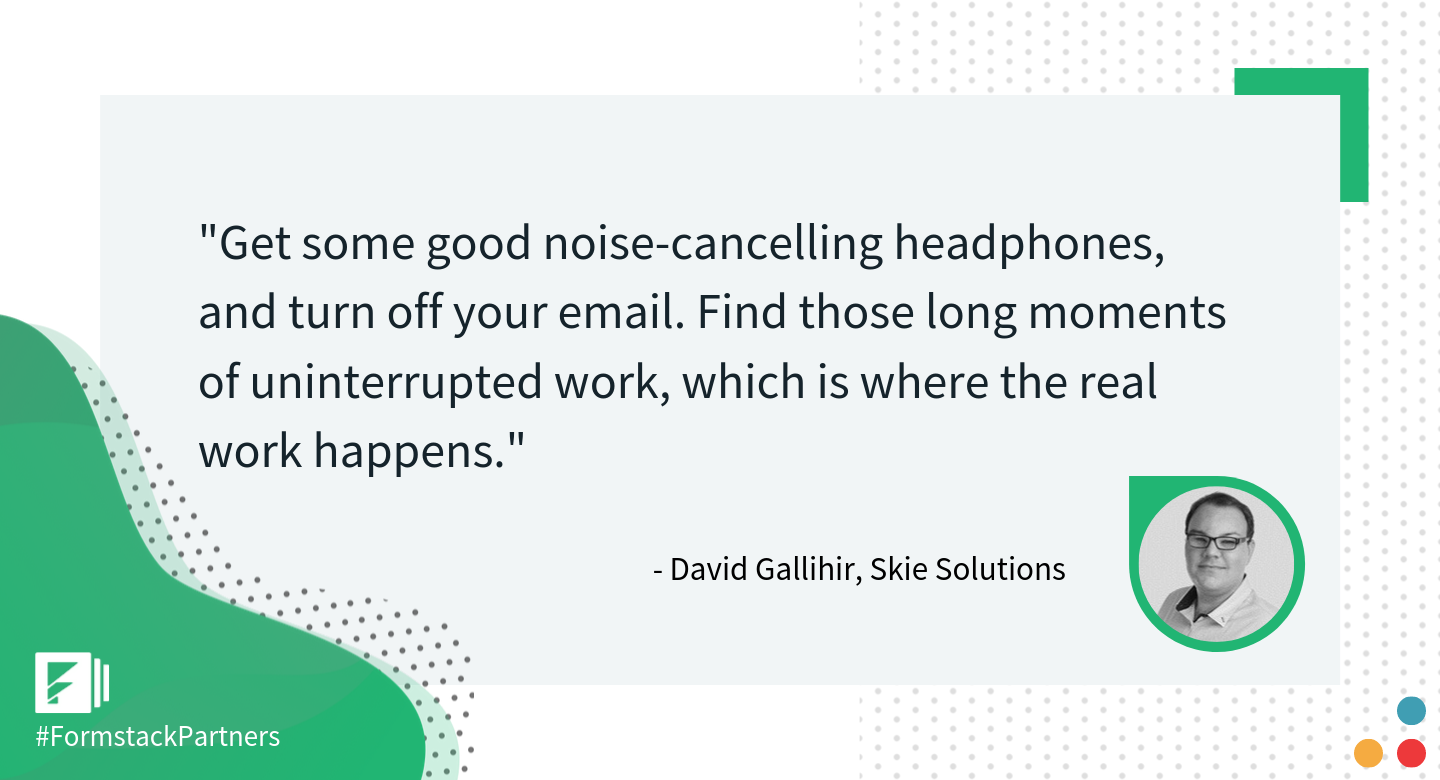 David Gallihir of Skie Solutions gives his best workplace productivity tip
