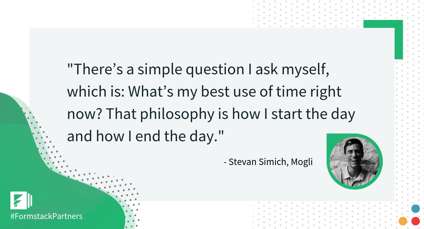 Stevan Simich of Mogli on productivity