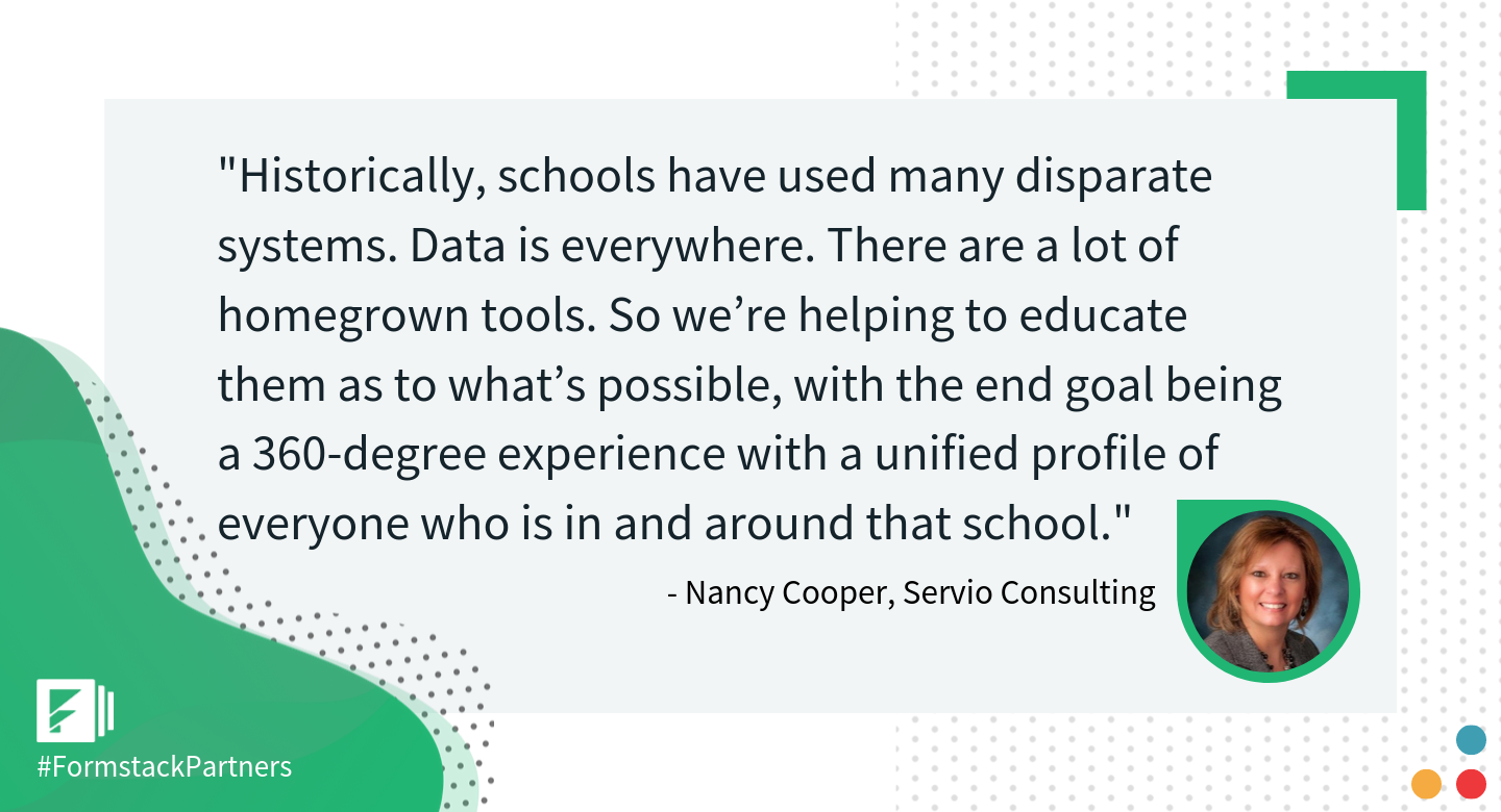 Nancy Cooper of Servio Consulting discusses data for education.