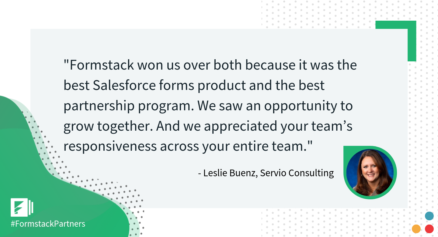 Leslie Buenz of Servio Consulting discusses Formstack Salesforce App