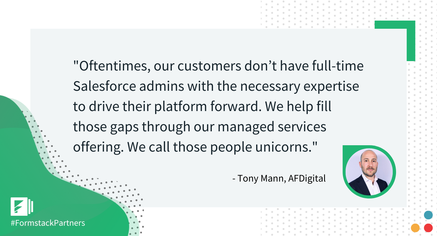 Tony Mann of AFDigital discusses their Salesforce consulting process.