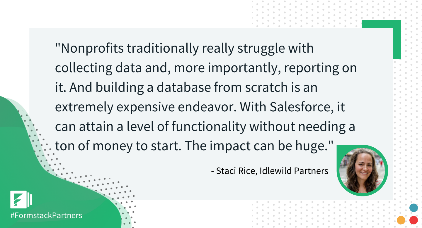 Staci Rice of Idlewild Partners discusses Salesforce for nonprofits.