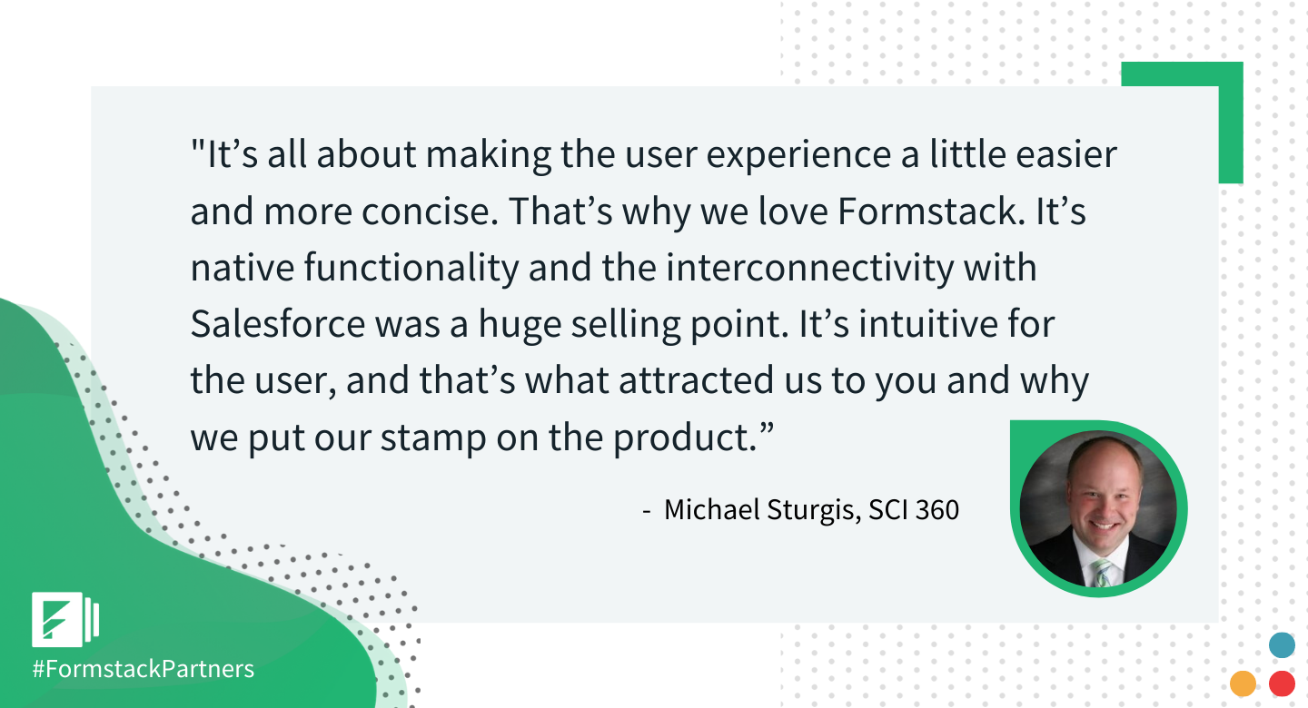Michael Sturgis of SCI 260 discusses usability of Formstack Salesforce app.