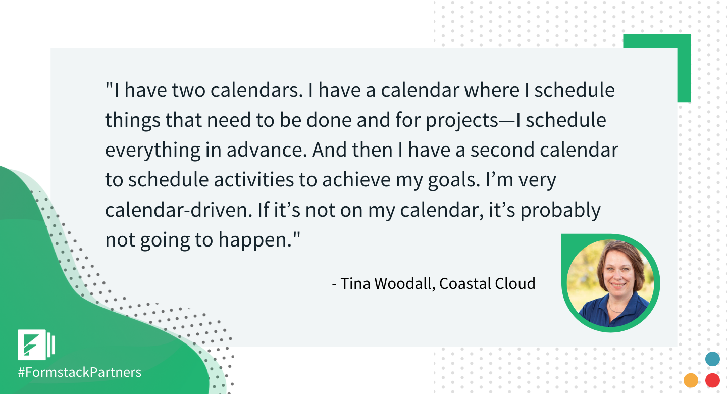 Tina Woodall of Coastal Cloud gives her best workplace productivity quote
