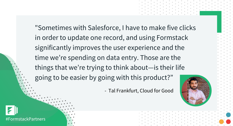 Tal Frankfurt of Cloud for Good discusses Formstack Salesforce App