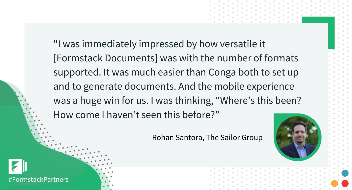 Rohan Santora of The Sailor Group discusses Formstack Documents within Salesforce