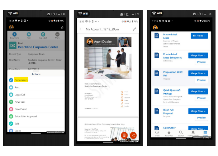 Formstack Documents in Salesforce mobile experience