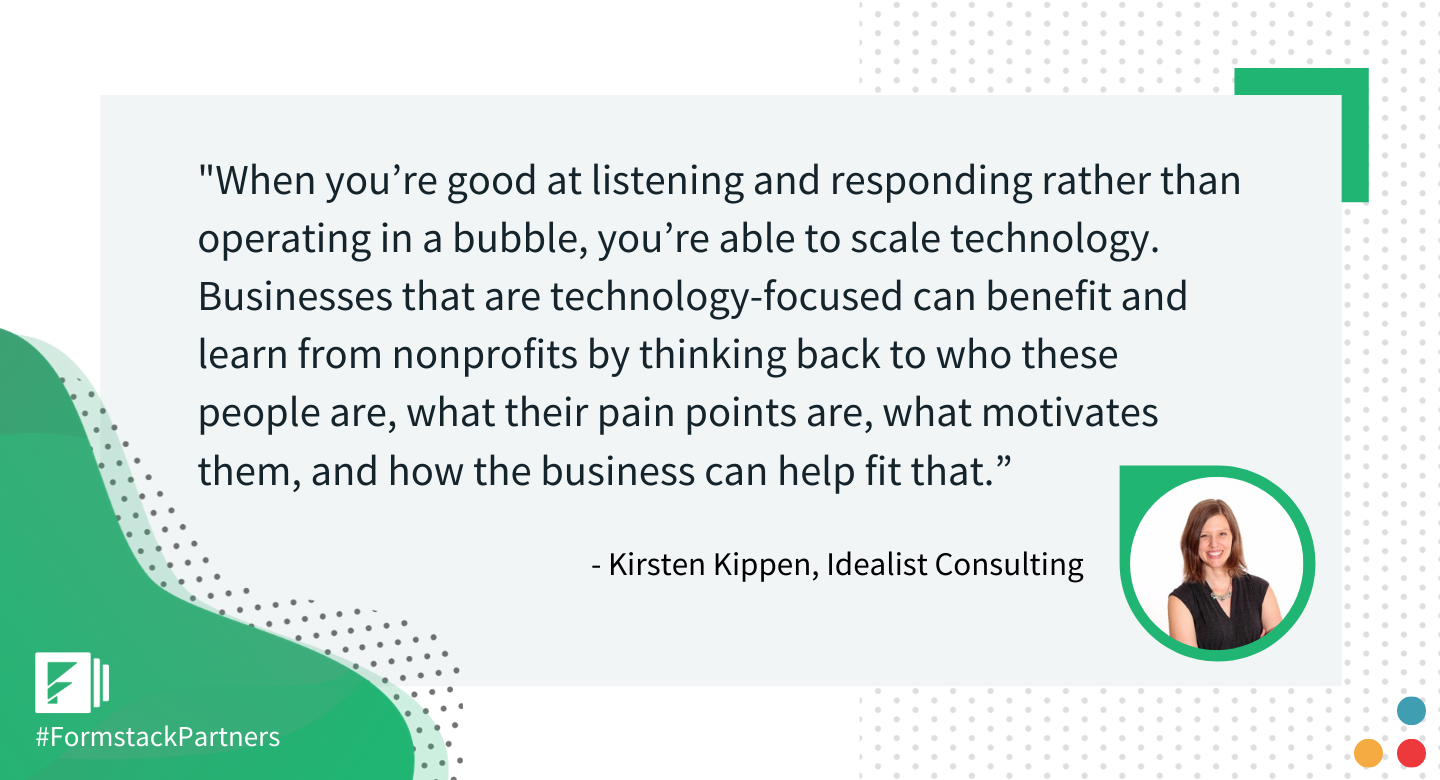 Kirsten Kippen of Idealist Consulting discusses technology for business and what they can learn from nonprofits.
