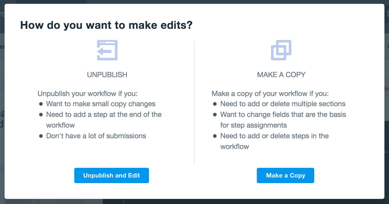 Workflows Edits