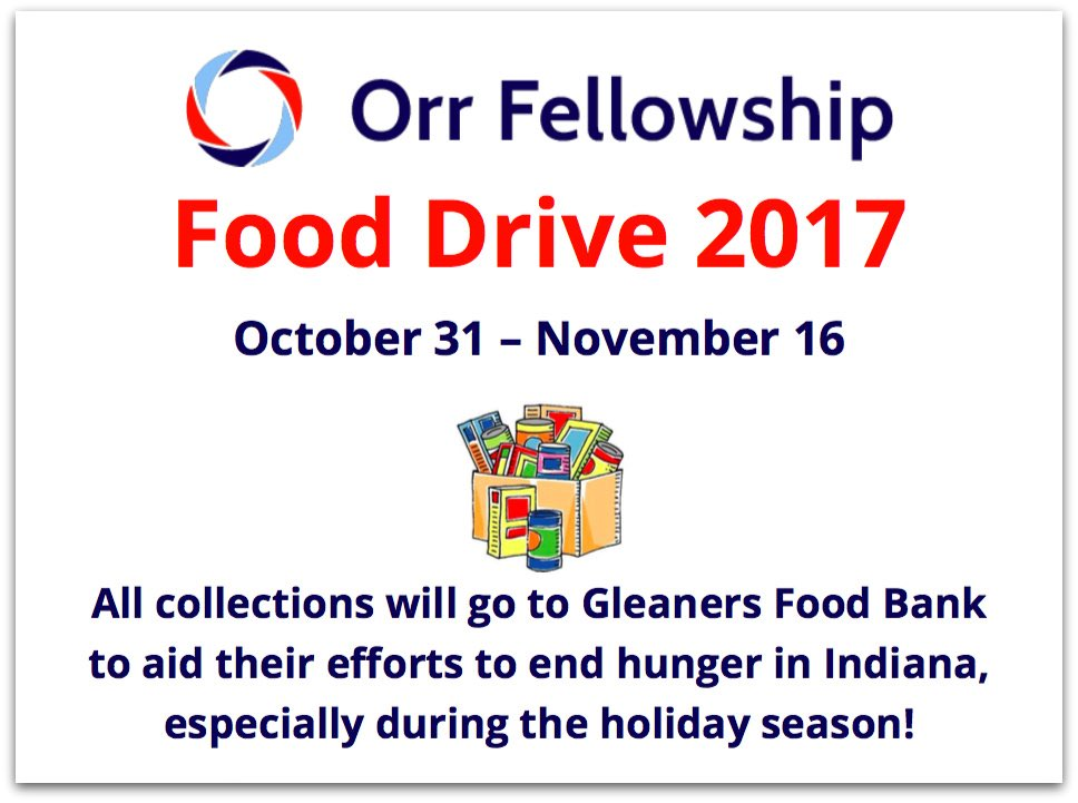 Orr Fellowship Food Drive + Formstack