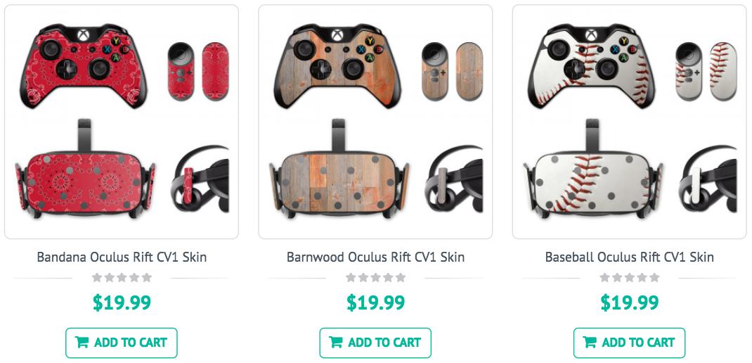 Oculus skins