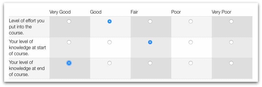 Formstack Course Evaluation Survey