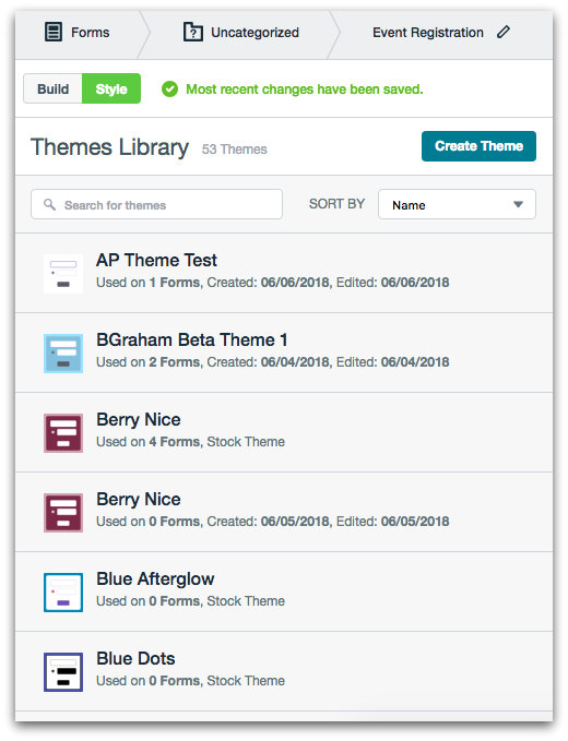 Formstack Form Builder Themes