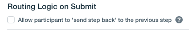 routing logic submit