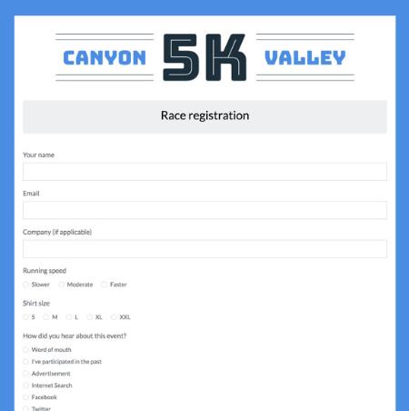 form templates event registration