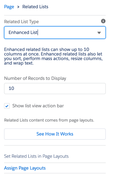 Salesforce Summer 19 release enhanced related lists