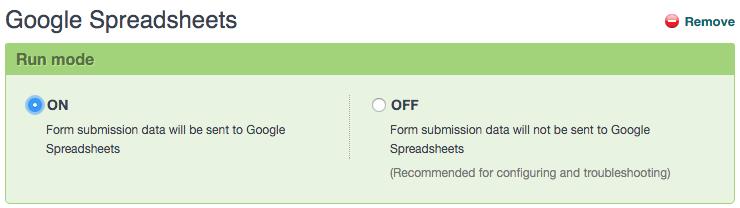 Activate Formstack Google Sheets Integration