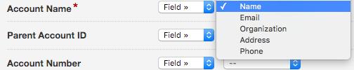 Mapping Fields (Field) in Formstack Salesforce Integration