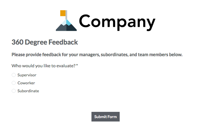 360 degree feedback forms