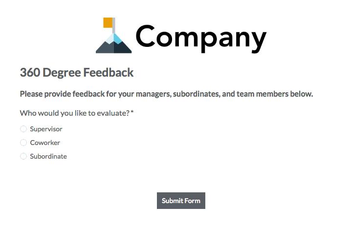 360 degree feedback forms