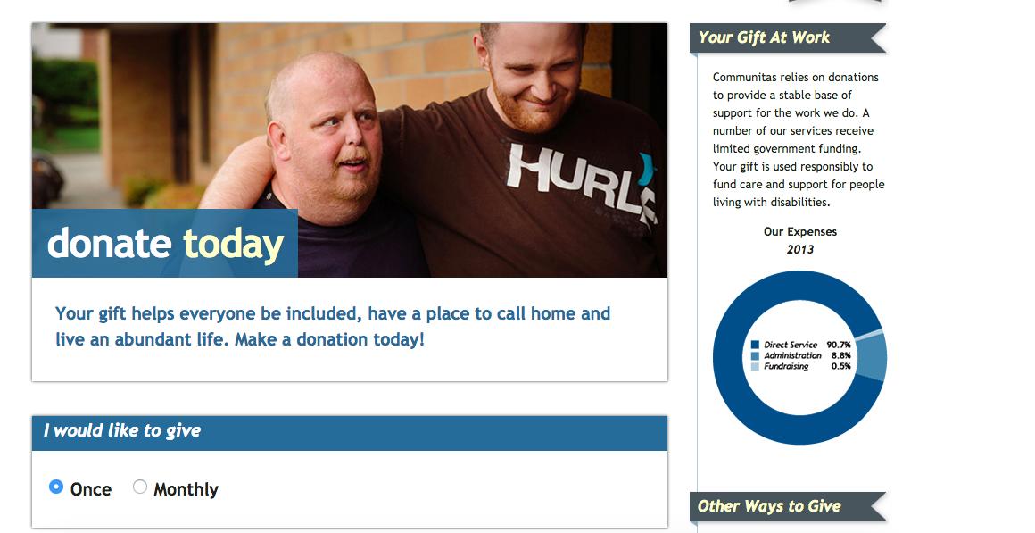 Sidebar online donation form