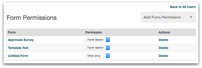 Form Permissions for Multiple Users