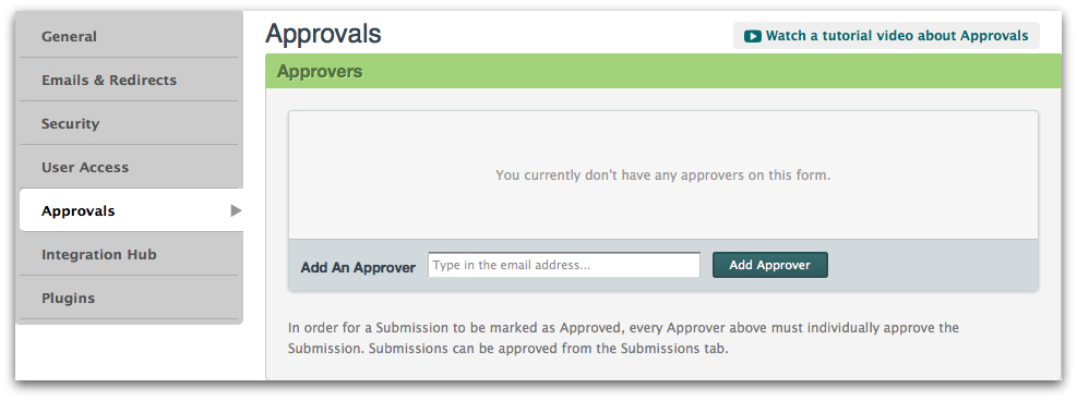 Adding Approvers to Approval Workflow Feature for Online Forms