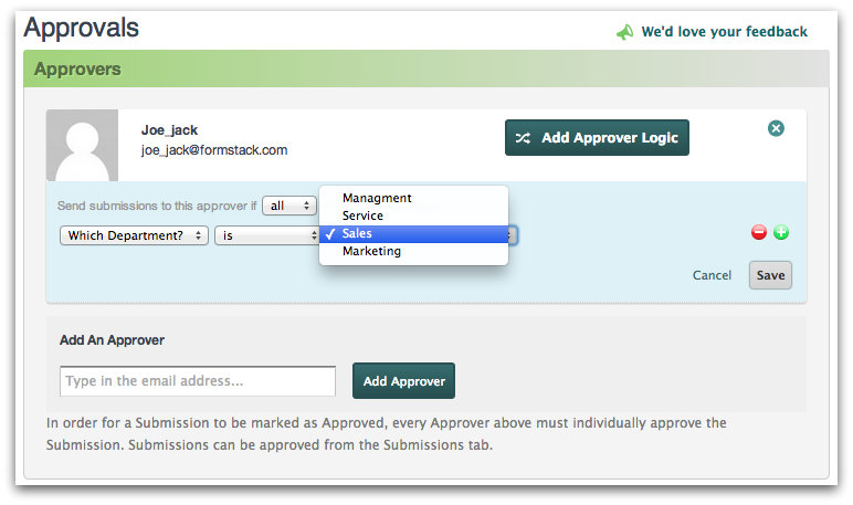 Adding Approver Logic for Workflow Approvals