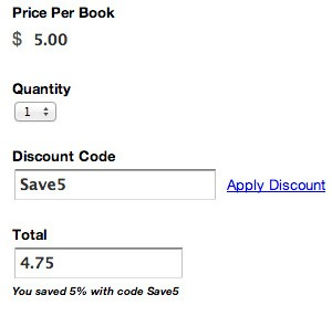 Discount Code on Online Forms