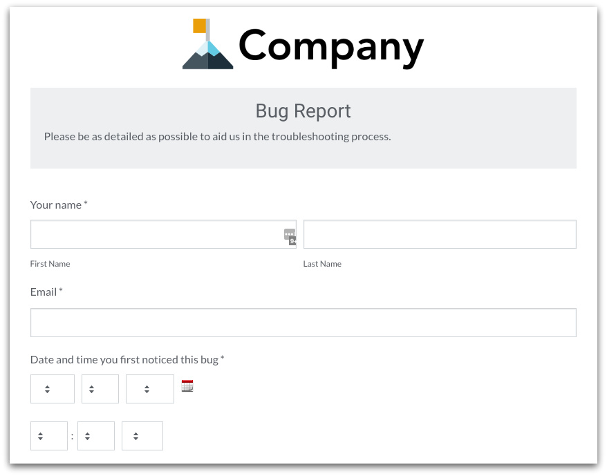 Formstack Customer Service Form Template