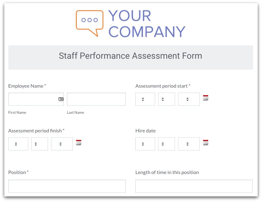 Stream Processes with an HR Form Template