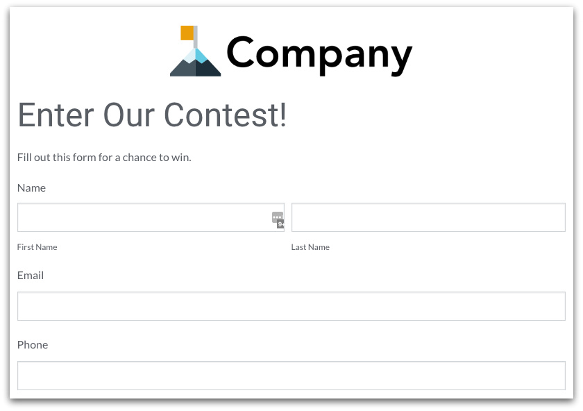 Formstack Marketing Form Template