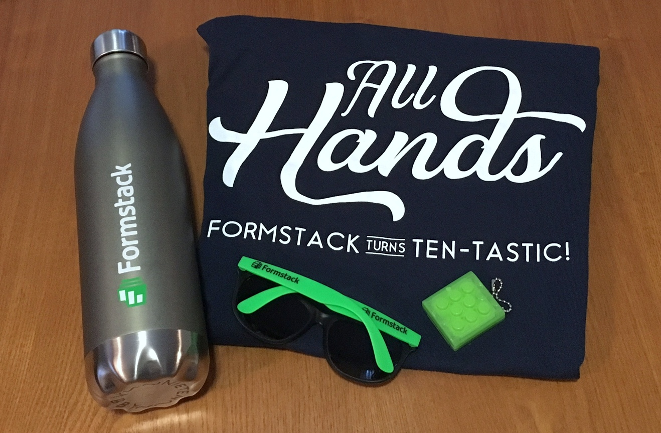 Formstack All Hands Swag
