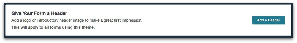 Formstack Theme Editor - Add a Header